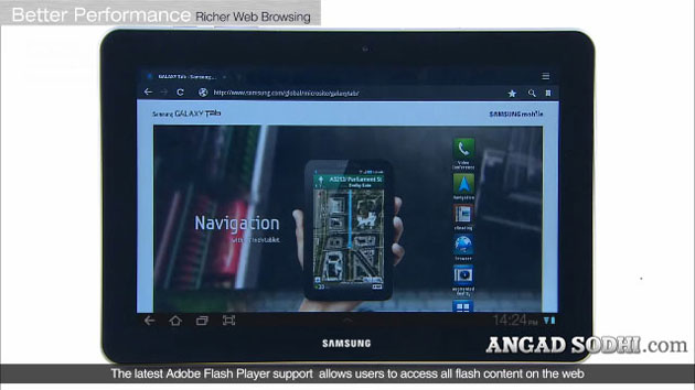 Samsung Galaxy Tab 750 10.1 Browser Flash support